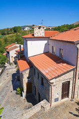 View of Satriano di Lucania. Italy.