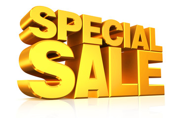 3D gold text special sale.