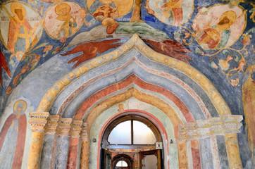 Фрески в Спасо-Преображенском соборе в Суздале