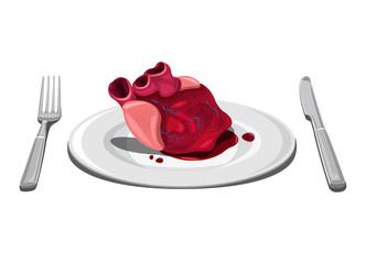 Halloween themed - Heart on plate