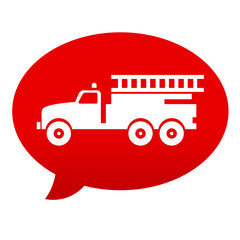 Etiqueta comentario roja fire truck