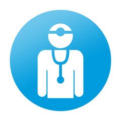 Etiqueta redonda medico