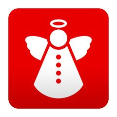 Etiqueta tipo app simbolo angel navideño