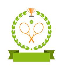 tennis emblem banner