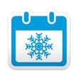 Pegatina simbolo calendario invierno