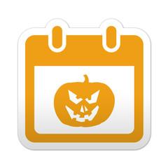 Pegatina simbolo calendario halloween