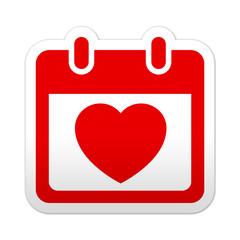 Pegatina simbolo calendario san valentin