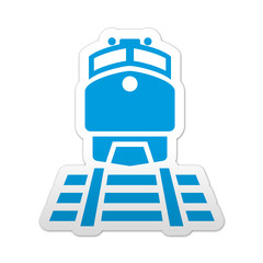 Pegatina simbolo ferrocarril