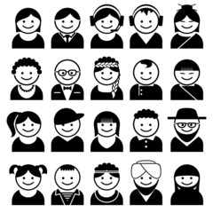 peoples avatar icons