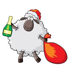 sheep - Santa