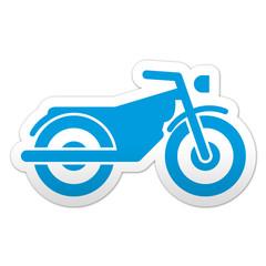 Pegatina simbolo motocicleta