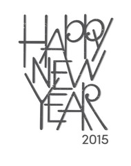 Happy new year scratched lettering