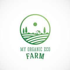 Organic Farm Abstract Vector Logo Template