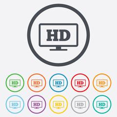 HD widescreen tv. High-definition symbol.