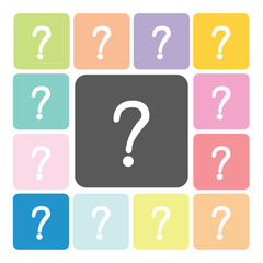 Question Icon color set vector illustration