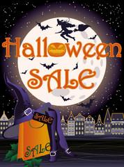 Happy Halloween sale shopping card