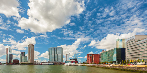 Panoramic view of Rotterdam, The Netherlands