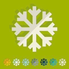 Flat design: snowflake