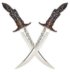asian isolated knives