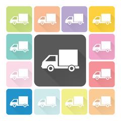 Car Icon color set vector illustration
