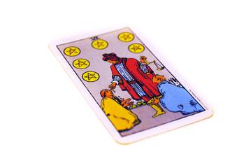 タロットカード  ペンタクル6