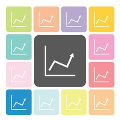 Graph Icon color set vector illustration