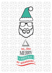 Hipster christmas vector with sarcastic message