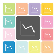 Graph Icon color set vector illustration
