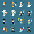 Large set of funny professional people avatars