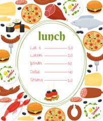 Lunch menu template
