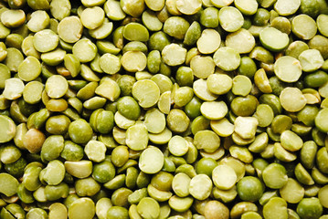 Background of Dried Fresh Green Split Peas