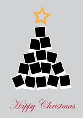 Vector Christmas tree with photos