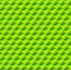 Abstract Seamless Green Cube Background. Vector