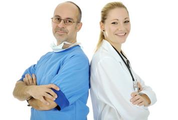 OP-Arzt und Ärztin als Team