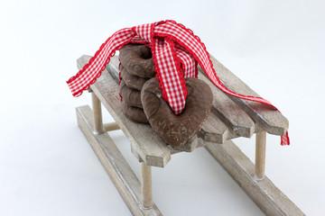 Lebkuchen auf Schlitten