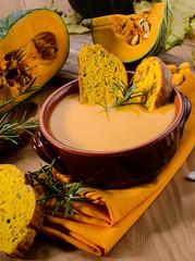 Pumpkin soup, soup, pumpkin soup, vegetarian, cream, creamy, veg