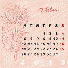 october 2015 flowers