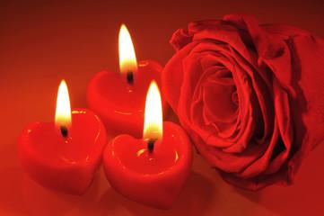 Kerzenherzen