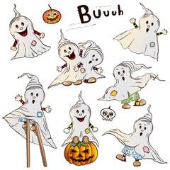 Halloween Gespenster, vector design elements