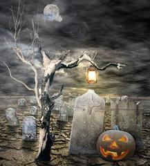 Halloween, Jack o' lantern in the cemetary