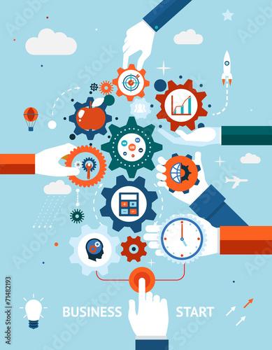 Business and entrepreneurship business start - 71482193
