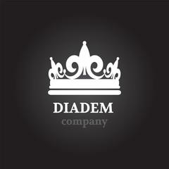 Diadem vector silhouette icon
