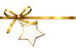 Goldene Schleife mit Stern-Etikett