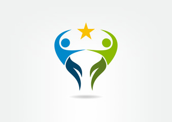 Logo Partnership Success, professional teamwork, symbol, icon