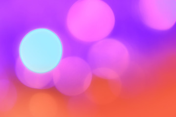 Colorful Christmas abstract background with bokeh lights