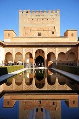 Alhambra Palace in Granada, Patio de los Arrayanes, Spain