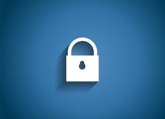 Security Glossy Icon Vector Illustration