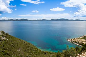 Light blue bay