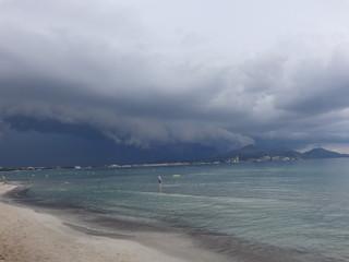 Aufziehendes Gewitter Unwetter an der Küste