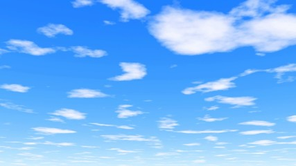 Under the clouds - clear white clouds and vibrant blue sky